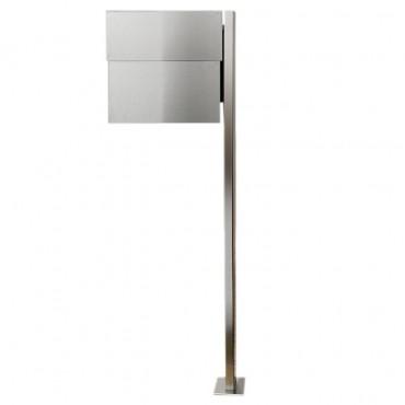 radius briefkasten letterman xxl 2 mit pfosten edelstahl inkl zeitungsfach ebay. Black Bedroom Furniture Sets. Home Design Ideas