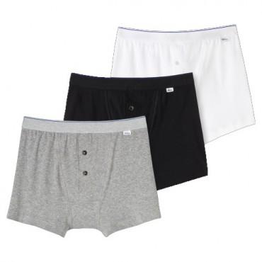 schiesser 3 st ck shorts ludwig schwarz grau weiss herren. Black Bedroom Furniture Sets. Home Design Ideas