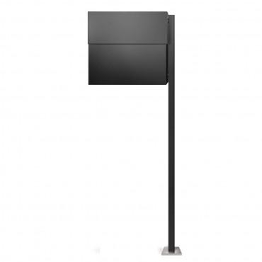radius briefkasten letterman xxl 2 mit pfosten anthrazit ral 7016 zeitungsfach ebay. Black Bedroom Furniture Sets. Home Design Ideas