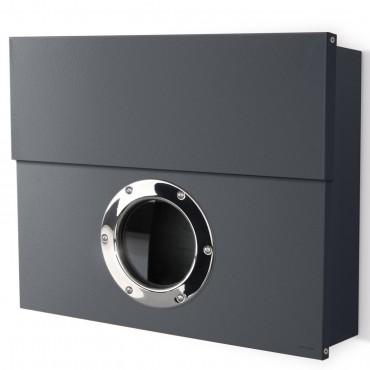 radius letterman xxl anthrazit ral 7016 briefkasten mit verdecktem zeitungsfach ebay. Black Bedroom Furniture Sets. Home Design Ideas