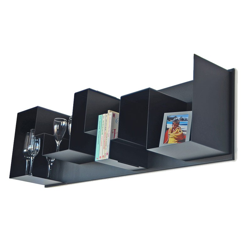 radius regal one stahl schwarz wandregal ebay. Black Bedroom Furniture Sets. Home Design Ideas