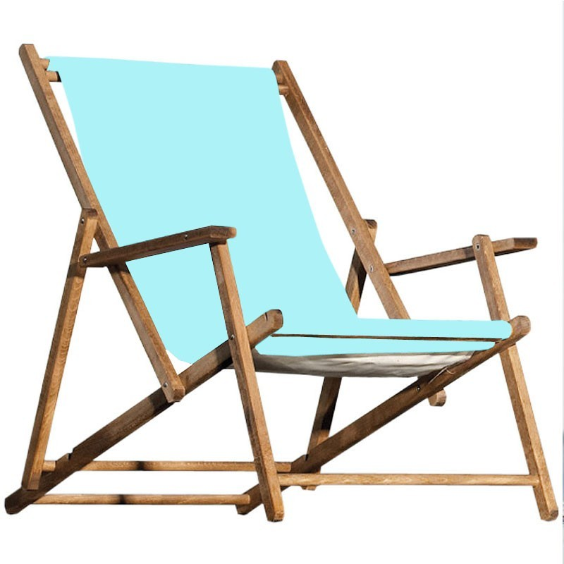 jan kurtz deckchair meerblau strandstuhl teak holz klappbar. Black Bedroom Furniture Sets. Home Design Ideas