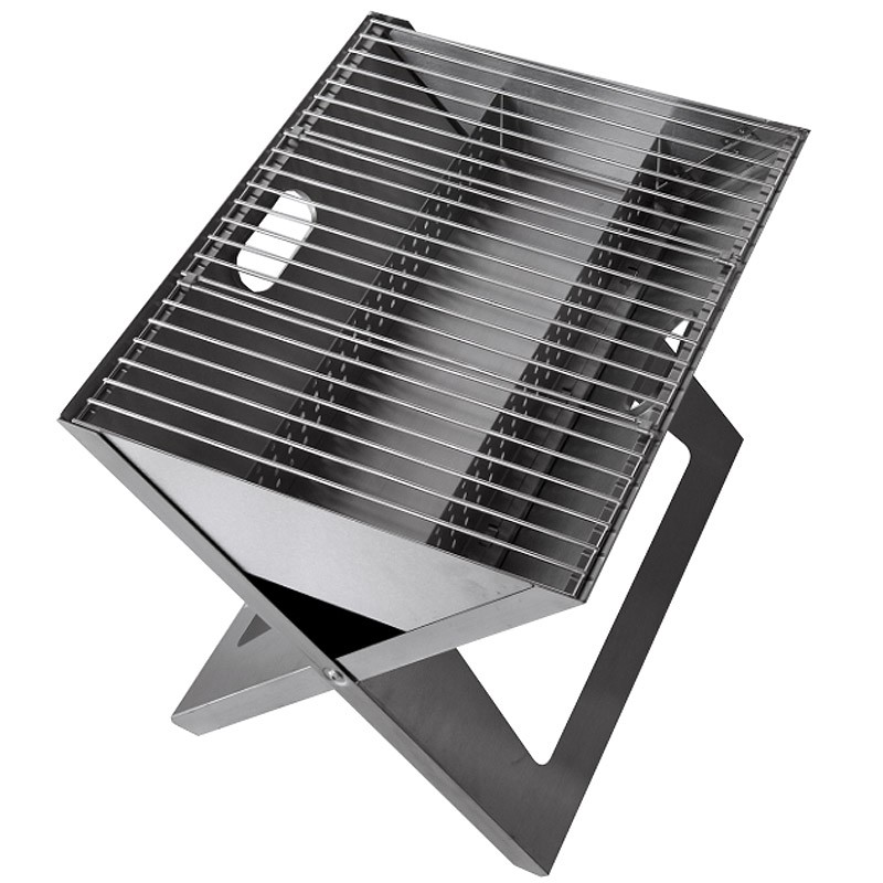 grilltech notebook grill edelstahl klappgrill ebay. Black Bedroom Furniture Sets. Home Design Ideas