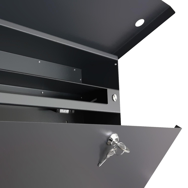 radius briefkasten letterman xxl 2 aus edelstahl mit klingel und verdecktem zeitungsfach inkl. Black Bedroom Furniture Sets. Home Design Ideas