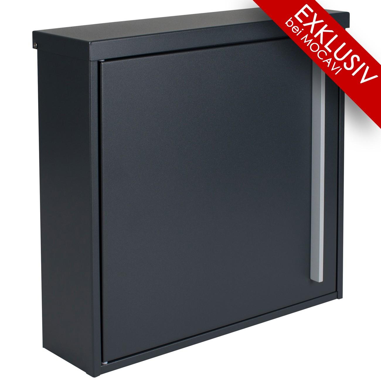 briefkasten mocavi box 101 anthrazitgrau ral 7016 grau 12 liter wandbriefkasten eingang. Black Bedroom Furniture Sets. Home Design Ideas