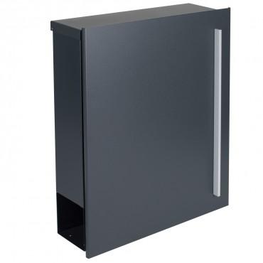 radius briefkasten letterman 5 anthrazitgrau ral 7016 mit. Black Bedroom Furniture Sets. Home Design Ideas