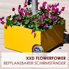 sonnenschirmst nder flowerpower. Black Bedroom Furniture Sets. Home Design Ideas
