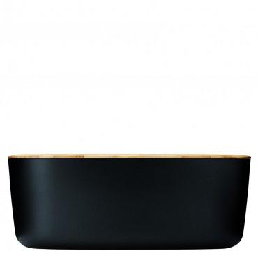 rig tig brotkasten inkl schneidebrett aus bambus schwarz. Black Bedroom Furniture Sets. Home Design Ideas