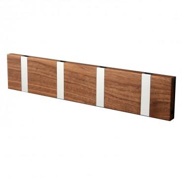 knax 6 garderobe eiche ge lt garderobenleiste mit 6 haken. Black Bedroom Furniture Sets. Home Design Ideas
