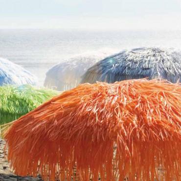 jan kurtz 200 cm sonnenschirm mit fransen orange hawaii bastschirm eingang garten gartenm bel. Black Bedroom Furniture Sets. Home Design Ideas