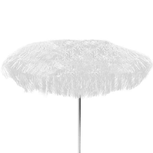 jan kurtz 200 cm sonnenschirm mit fransen weiss hawaii bastschirm eingang garten gartenm bel. Black Bedroom Furniture Sets. Home Design Ideas