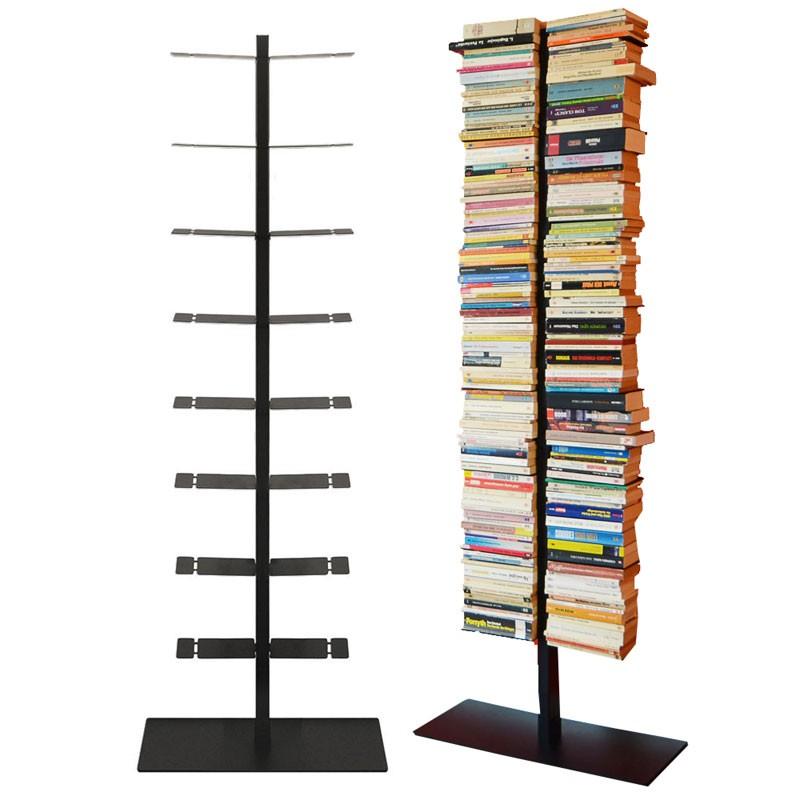 radius booksbaum regal mit stand schwarz gross 717 a. Black Bedroom Furniture Sets. Home Design Ideas
