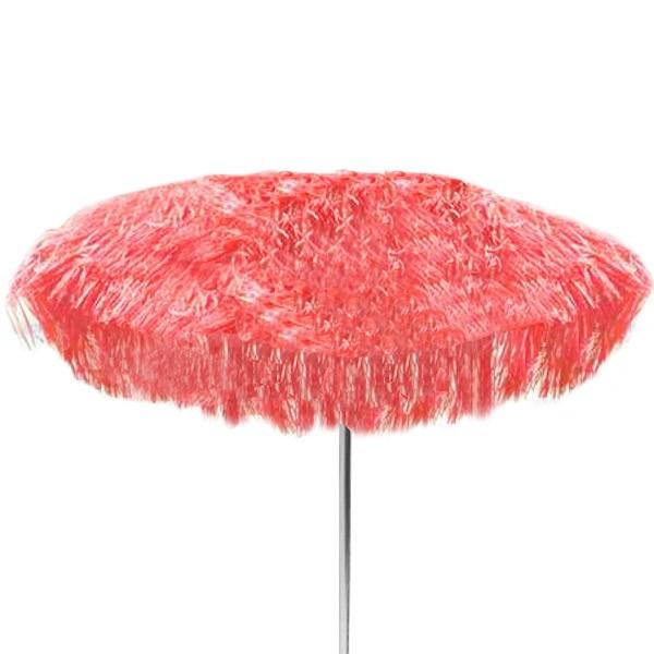 jan kurtz 200 cm sonnenschirm mit fransen rot hawaii bastschirm eingang garten gartenm bel. Black Bedroom Furniture Sets. Home Design Ideas