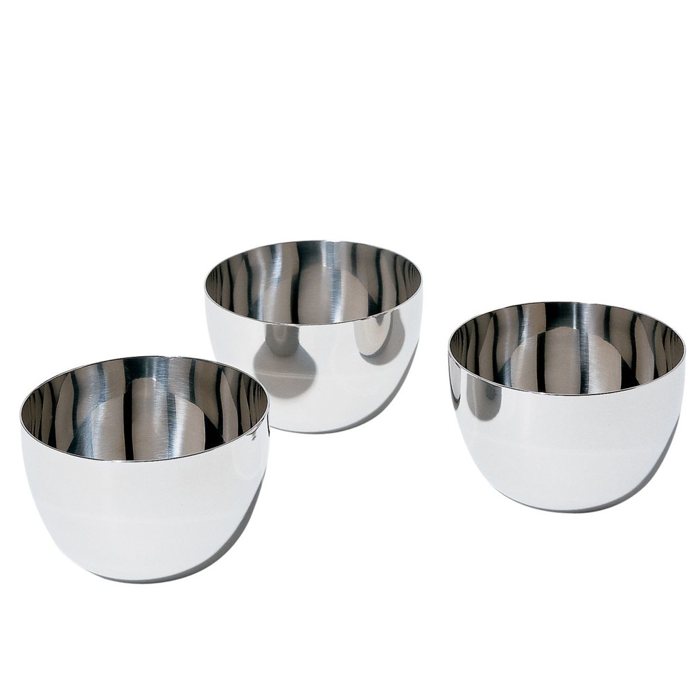alessi mami fondue schale 3 er set edelstahl sg59 k che kochen kochen. Black Bedroom Furniture Sets. Home Design Ideas