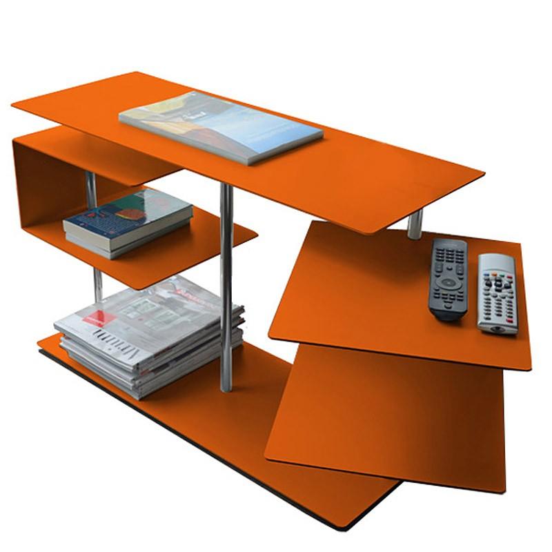 Radius beistelltisch x centric 2 table orange 50 x 30 x 77 for Beistelltisch orange