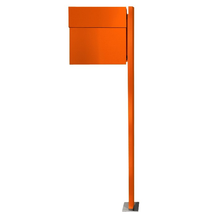 radius standbriefkasten letterman 4 orange mit pfosten 565 a eingang garten briefk sten. Black Bedroom Furniture Sets. Home Design Ideas
