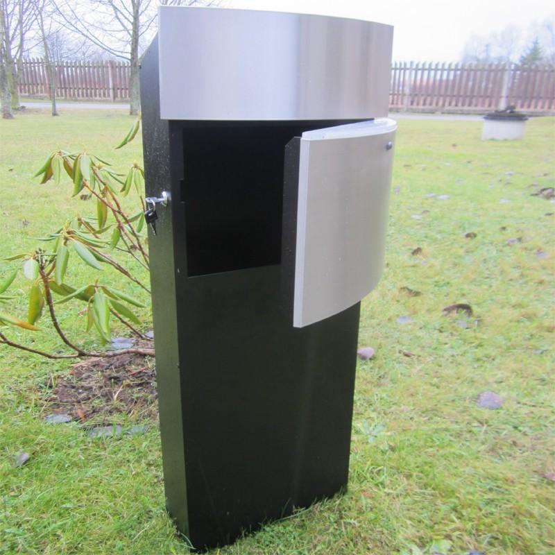 safepost 128 led standbriefkasten schwarz mit. Black Bedroom Furniture Sets. Home Design Ideas