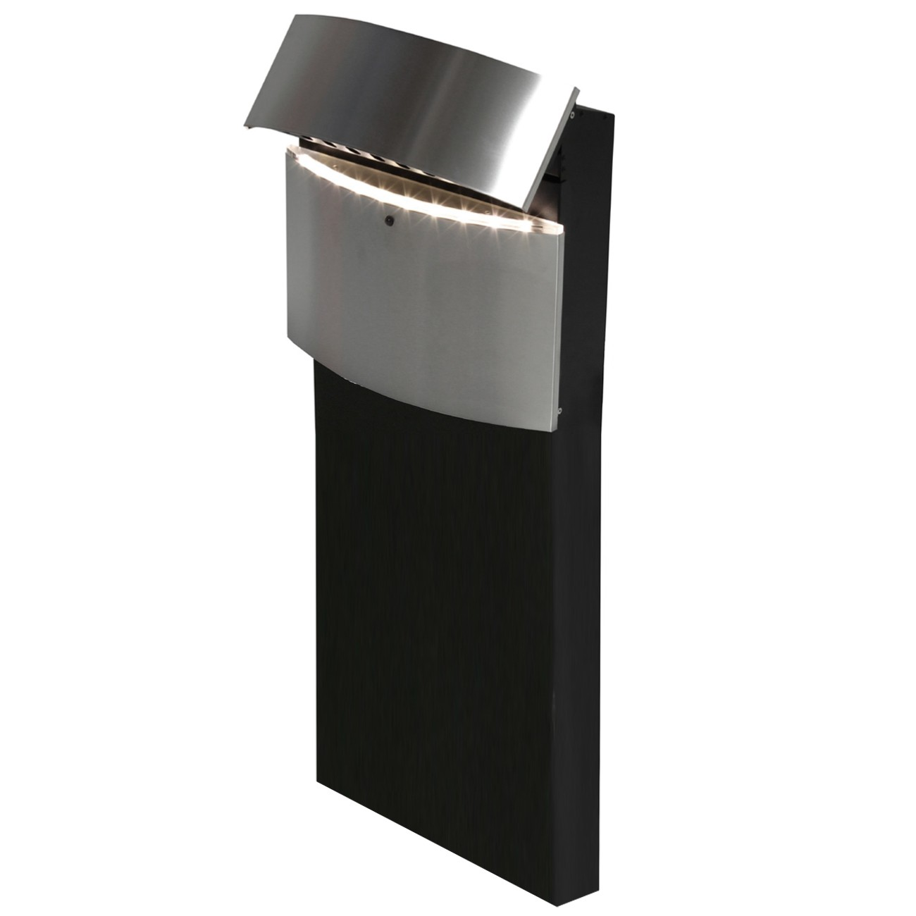 safepost 128 led standbriefkasten schwarz mit. Black Bedroom Furniture Sets. Home Design Ideas