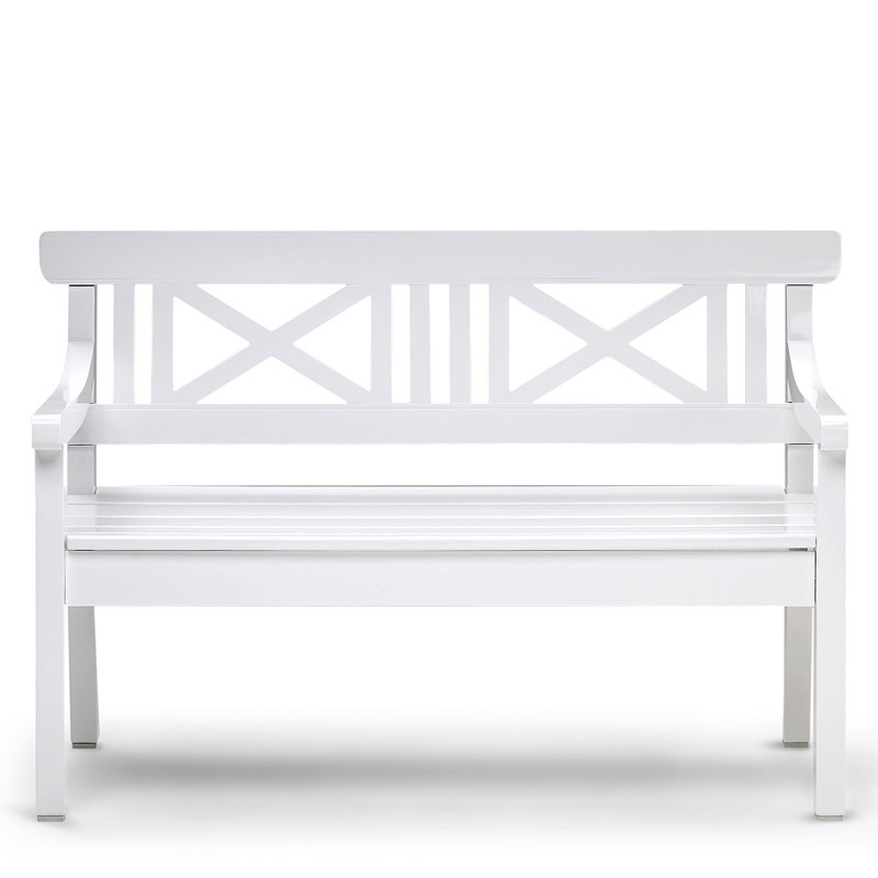 skagerak drachmann bank 120 cm weiss gartenbank s1100505 eingang garten gartenm bel gartenb nke. Black Bedroom Furniture Sets. Home Design Ideas
