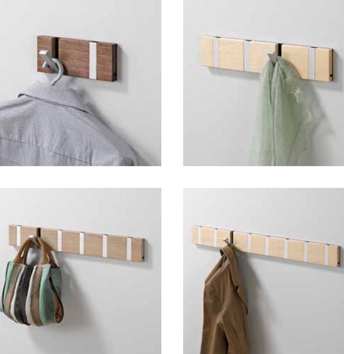 knax 6 garderobe walnu ge lt garderobenleiste mit 6. Black Bedroom Furniture Sets. Home Design Ideas