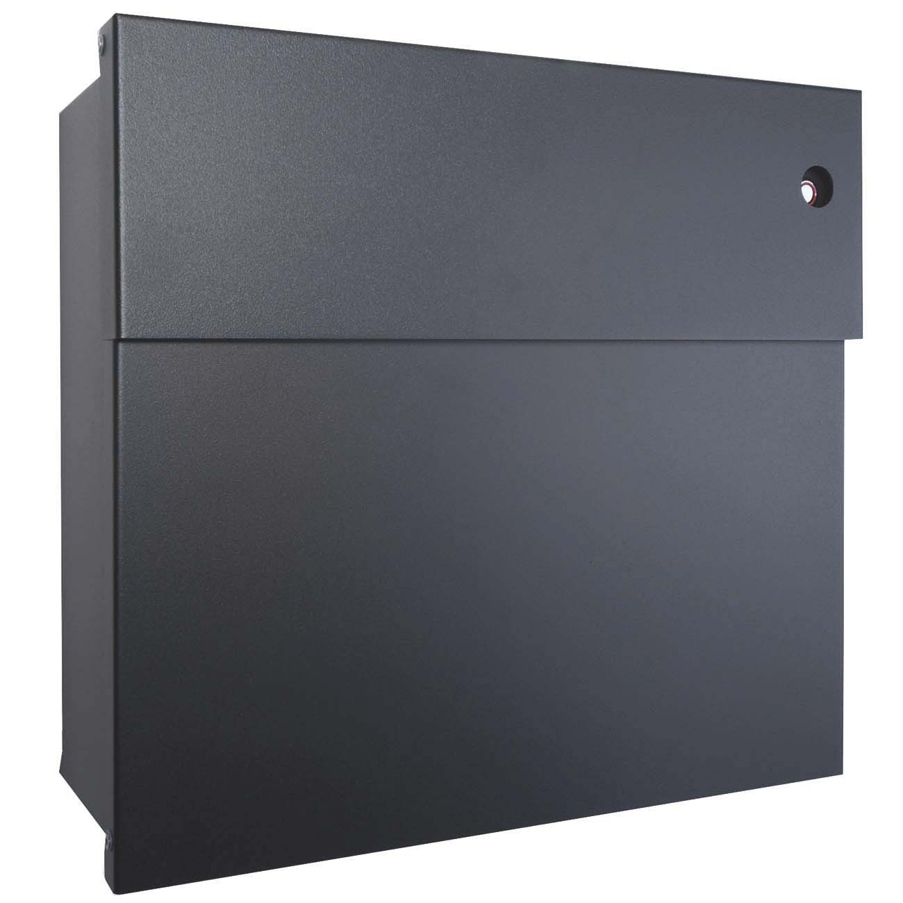 radius briefkasten letterman 4 anthrazitgrau ral 7016 mit klingel rot 560 g kr eingang. Black Bedroom Furniture Sets. Home Design Ideas