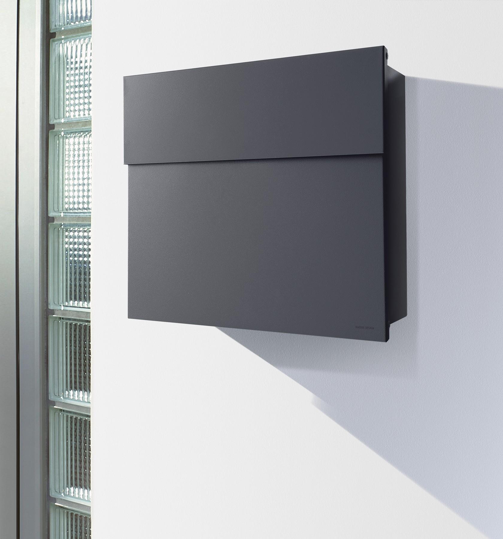 radius briefkasten letterman 4 anthrazitgrau ral 7016. Black Bedroom Furniture Sets. Home Design Ideas