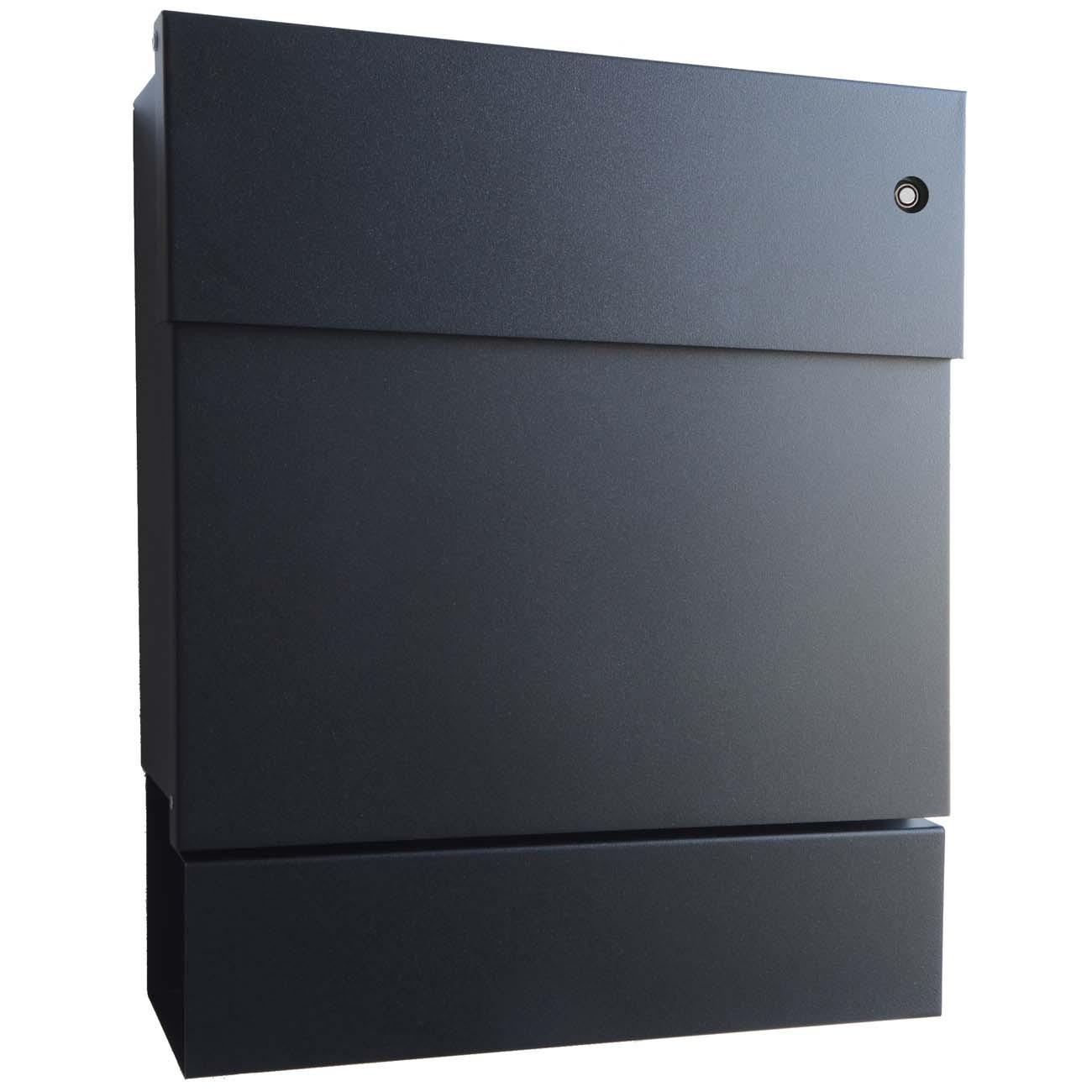 radius briefkasten letterman 5 schwarz mit klingel rot und. Black Bedroom Furniture Sets. Home Design Ideas