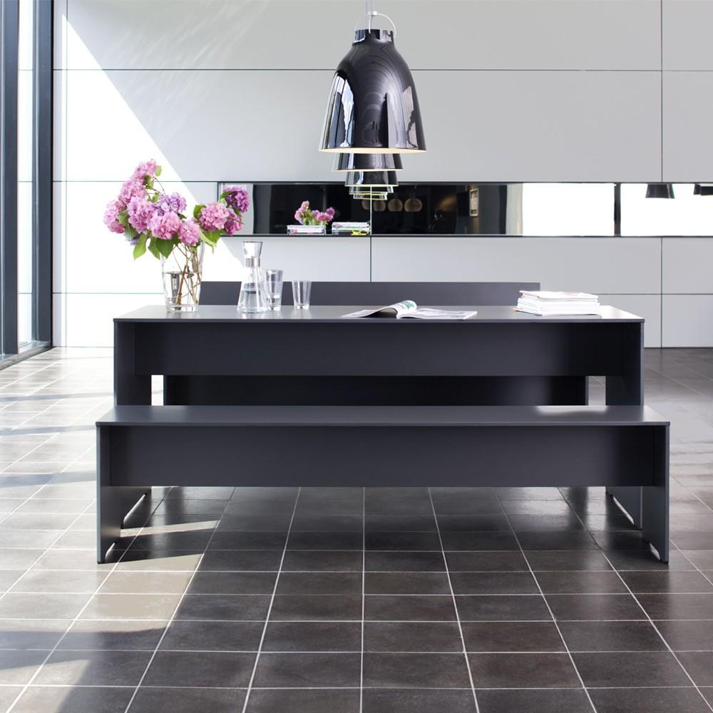 conmoto riva bank l 216 anthrazit ohne auflage wetterfest aus hpl gartenbank eingang. Black Bedroom Furniture Sets. Home Design Ideas