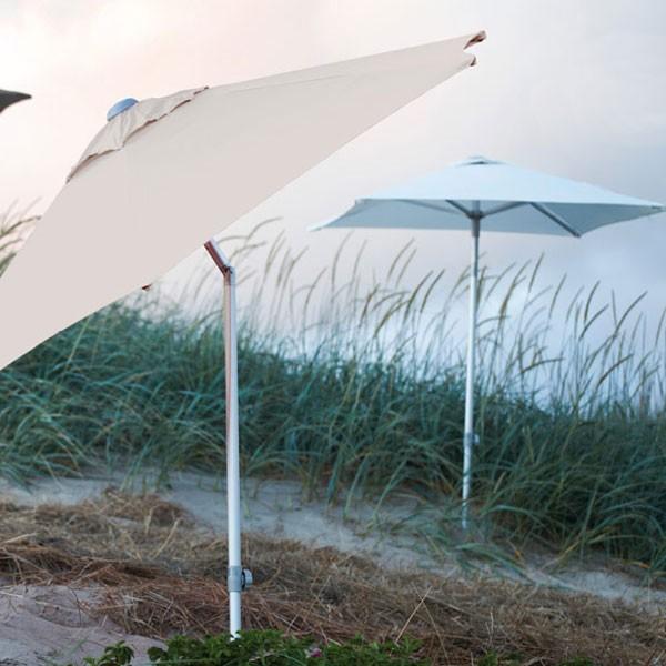 jan kurtz 2x1 5 m weisser sonnenschirm aus aluminium mit knickgelenk elba eingang garten. Black Bedroom Furniture Sets. Home Design Ideas
