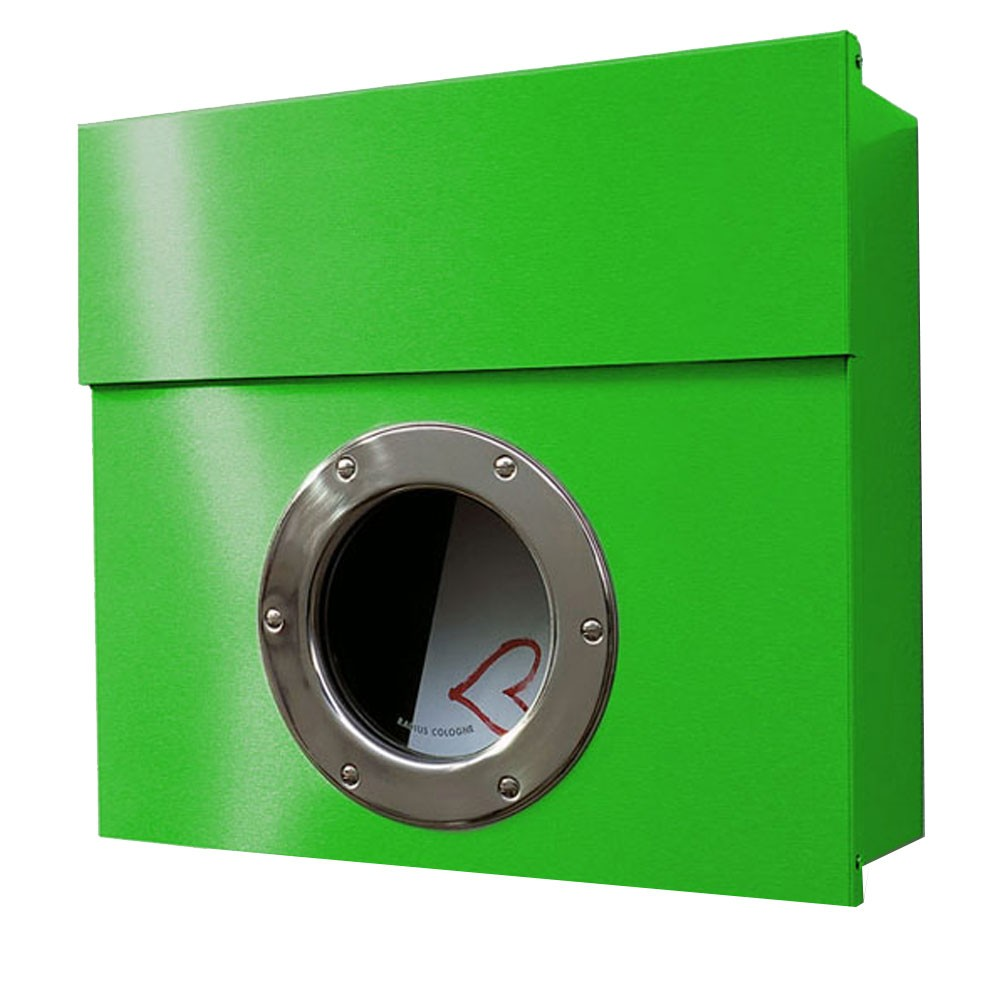 radius letterman 1 briefkasten gr n mit bullauge 506 b eingang garten briefk sten. Black Bedroom Furniture Sets. Home Design Ideas