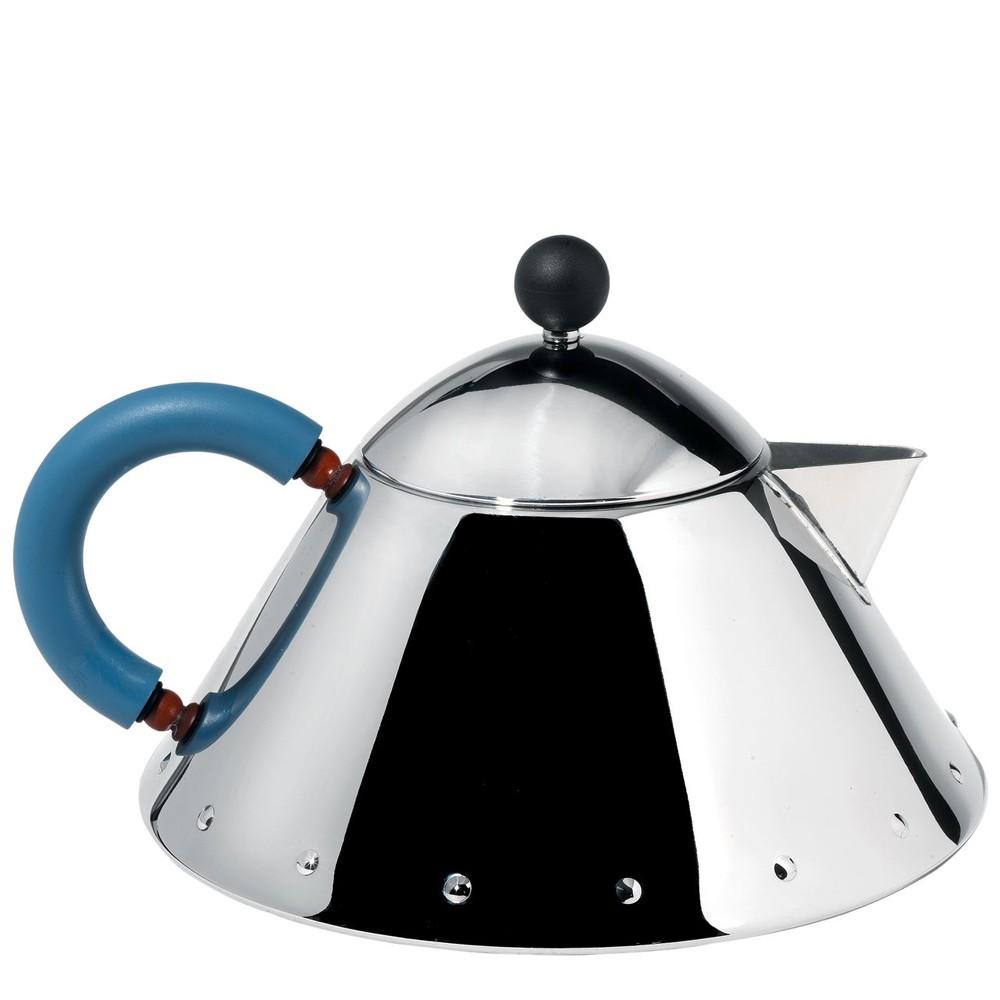 alessi teekanne blauer griff mg33 speisen servieren kannen teekannen. Black Bedroom Furniture Sets. Home Design Ideas